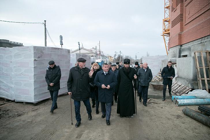 Строительство собора Александра Невского идёт по плану