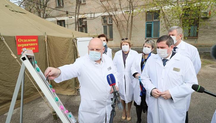 В Волгоградской области рядом с инфекционными госпиталями оборудуют пункты первичного осмотра