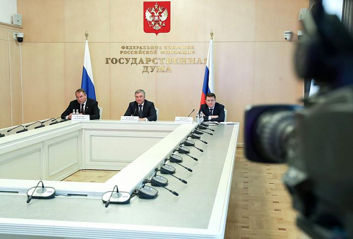 Вячеслав Володин предложил включить депутатов Госдумы в региональные оперштабы по противодействию распространению коронавируса
