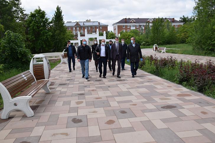 В парке имени Гагарина продолжается обновление
