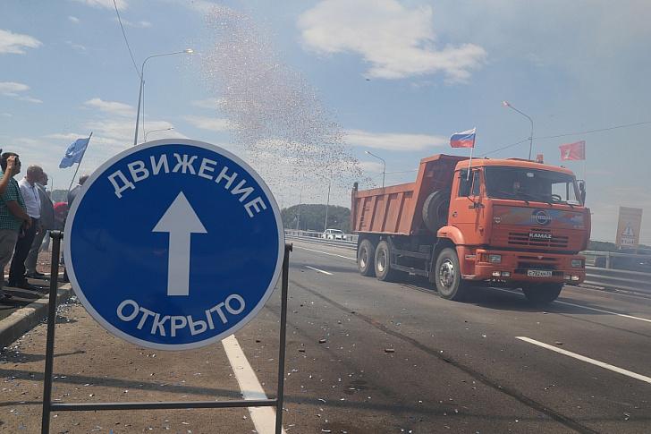 В Волгоградской области открыто движение по мосту через Ахтубу