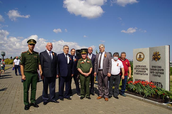 На Мамаевом кургане открыта памятная стела воинам Адыгеи, защищавшим Сталинград
