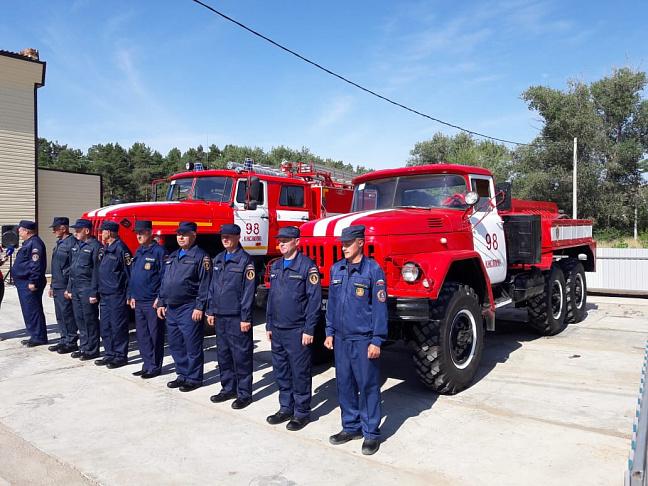 Новое пожарное депо открыто в Быковском районе